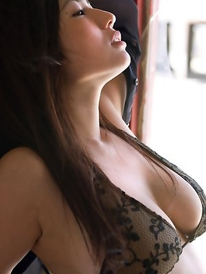Nonami Takizawa Asian with huge boobs is so erotic in lingerie